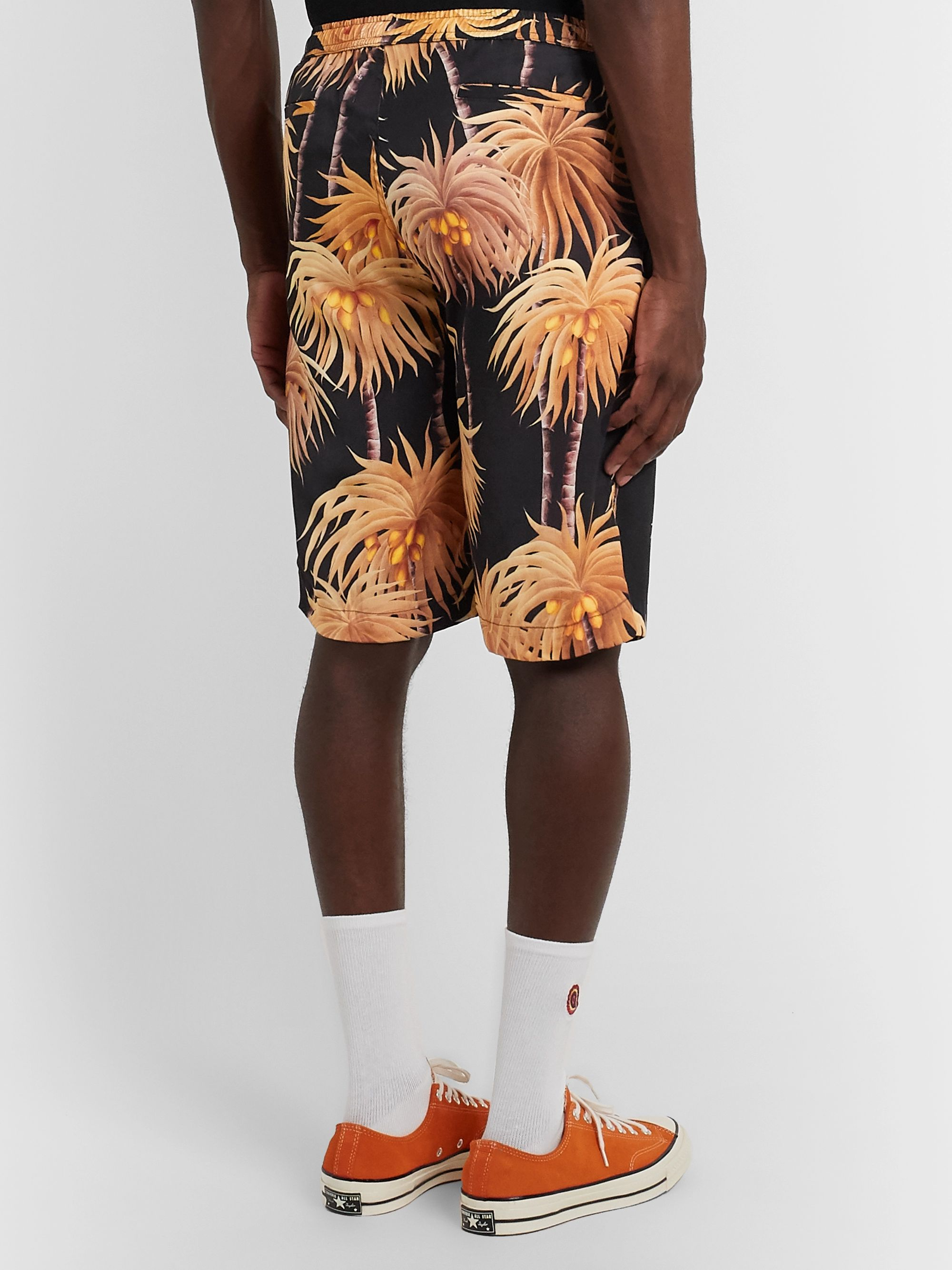Endless Joy Palm Printed Tencel Shorts