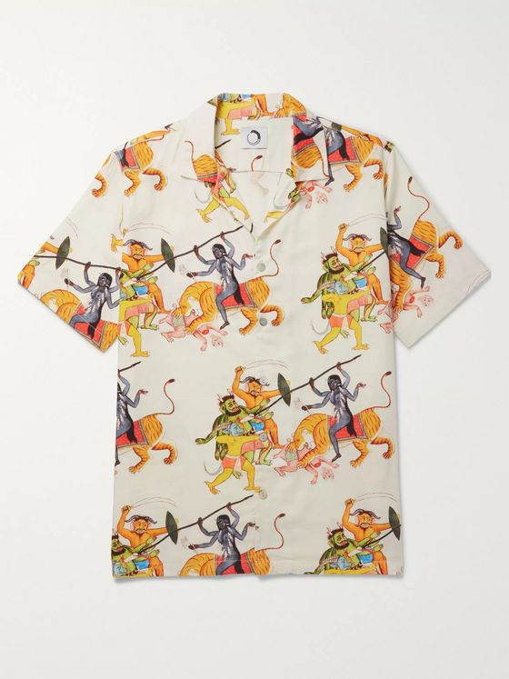 Endless Joy Kali Camp-Collar Printed Woven Shirt