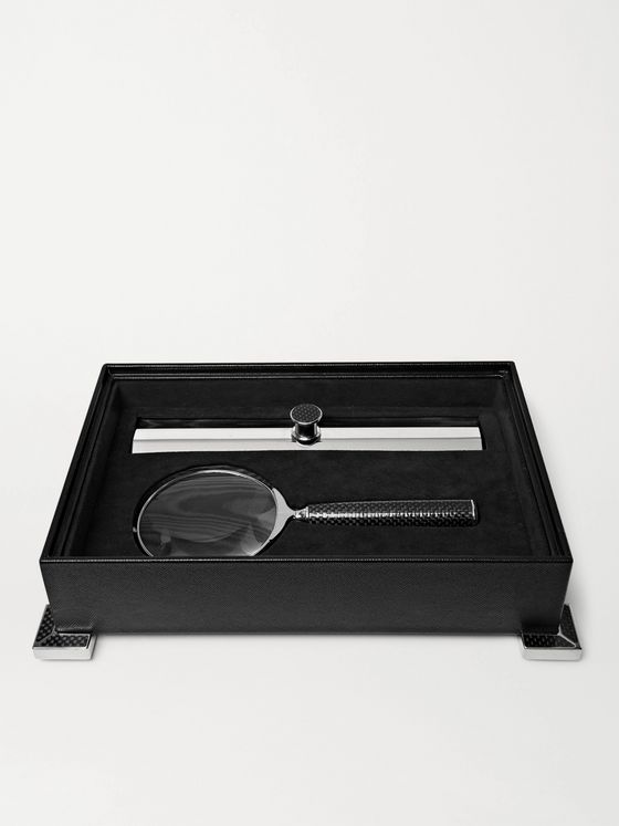 LORENZI MILANO Magnifying Glass and Ruler Set