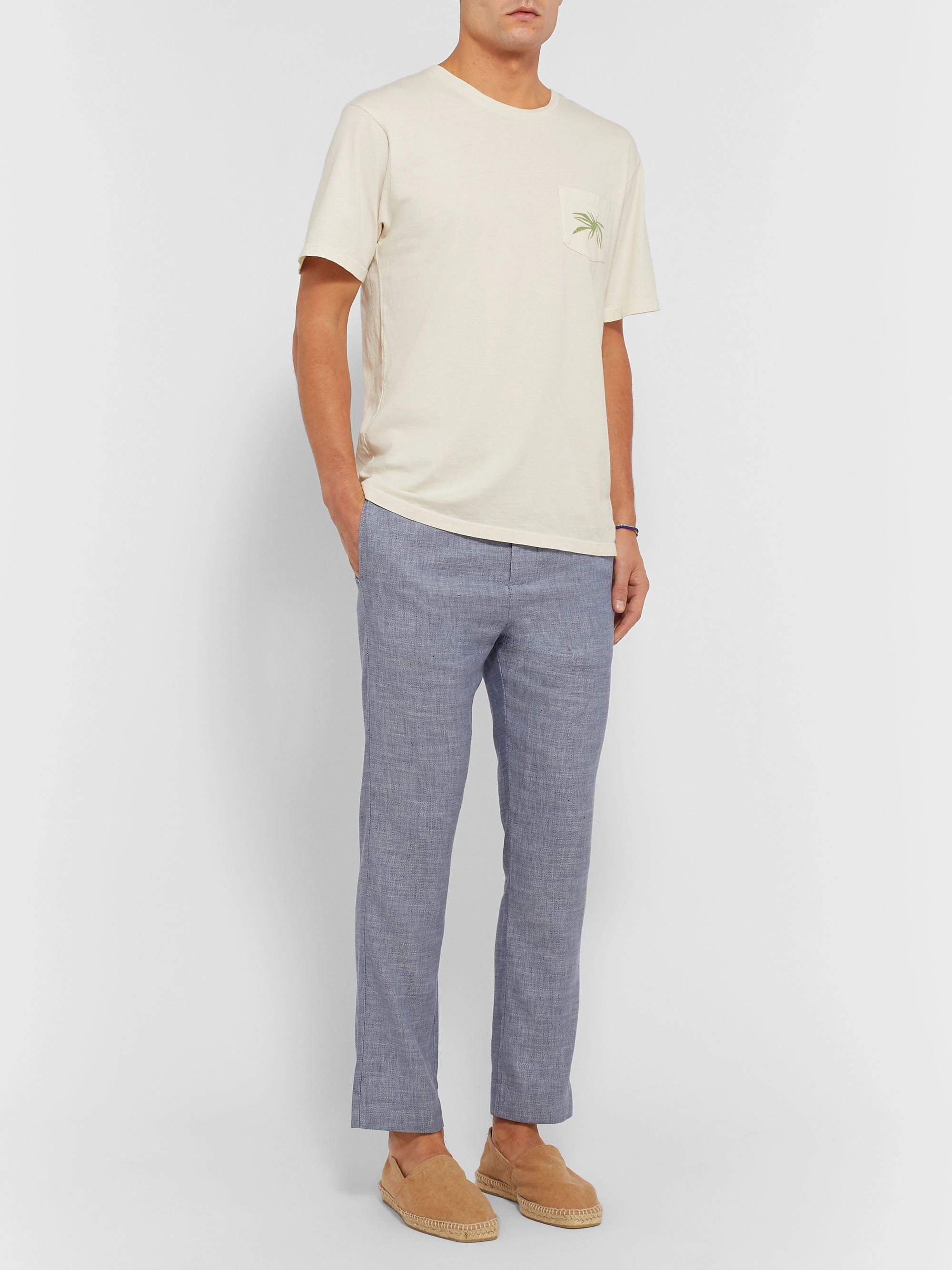 Frescobol Carioca Linen and Cotton-Blend Drawstring Trousers