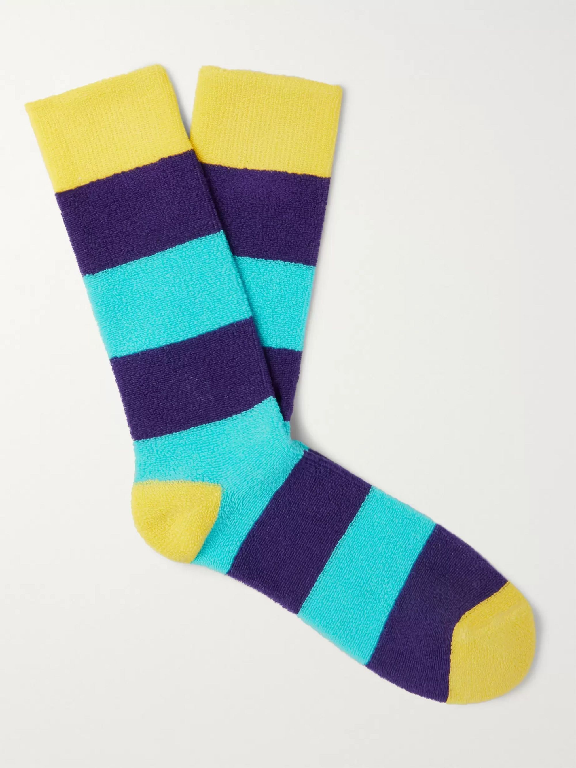 Paul Smith Neil Striped Cotton-Blend Terry Socks