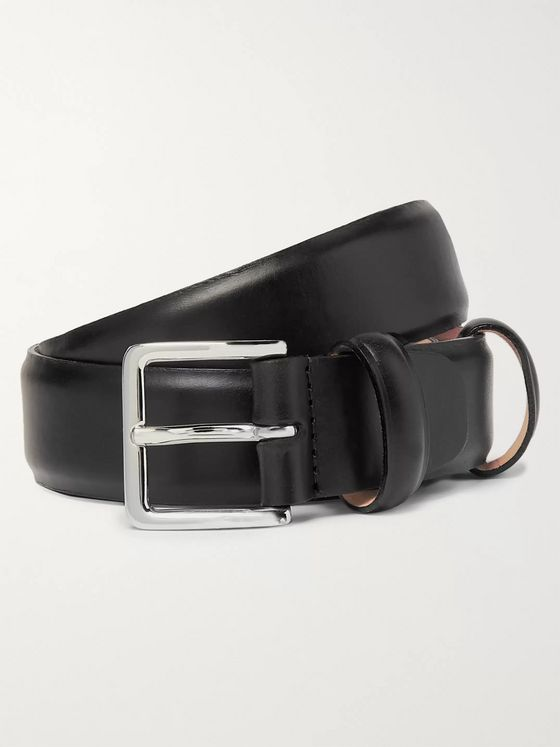 Mr P. 3cm Black Leather Belt