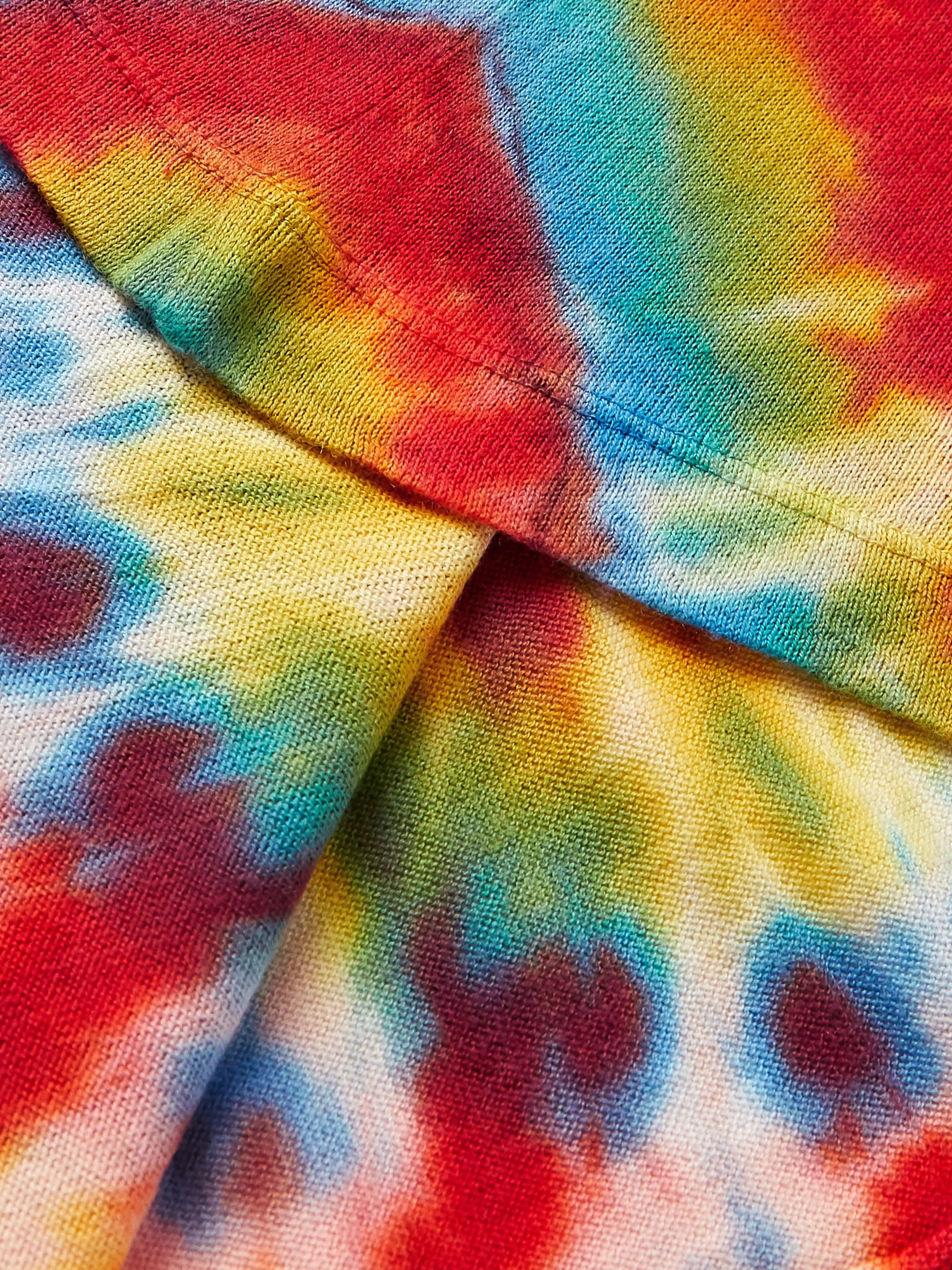 The Elder Statesman Bullseye Tie-Dyed Cotton and Cashmere-Blend T-Shirt
