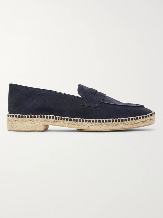 CASTAÑER Nacho Collapsible-Heel Suede Espadrille Loafers