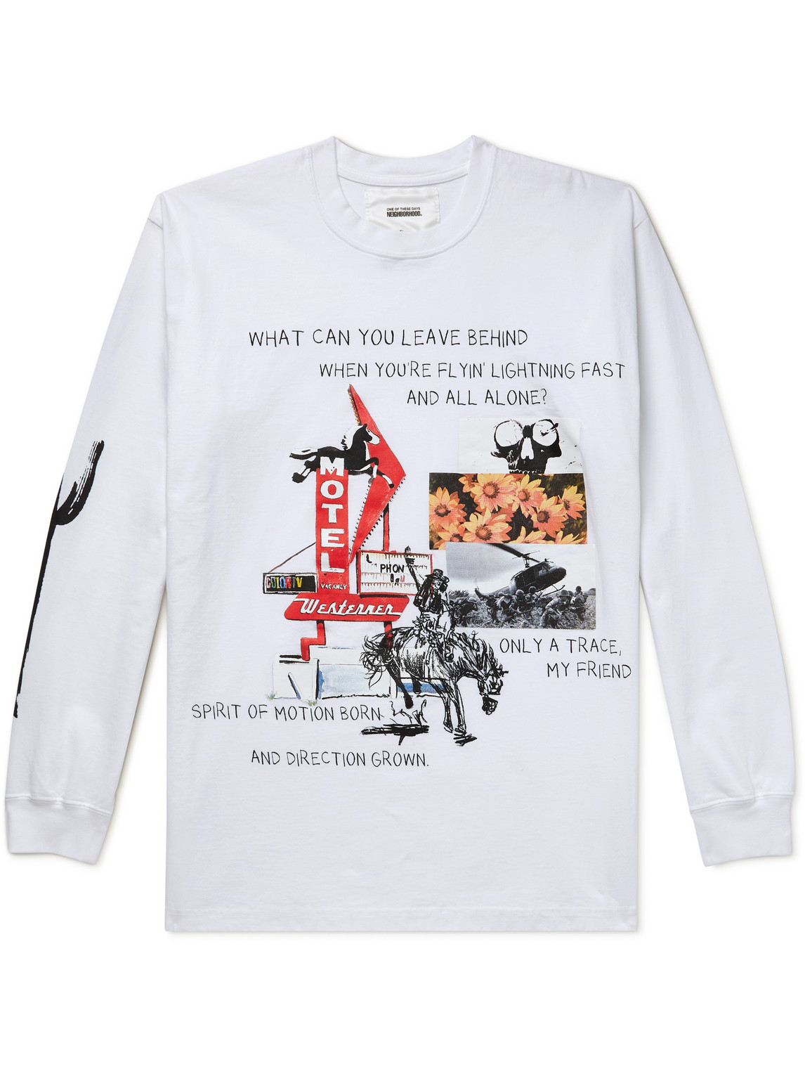 Neighborhood ONE OF THESE DAYS PRINTED COTTON-JERSEY T-SHIRT