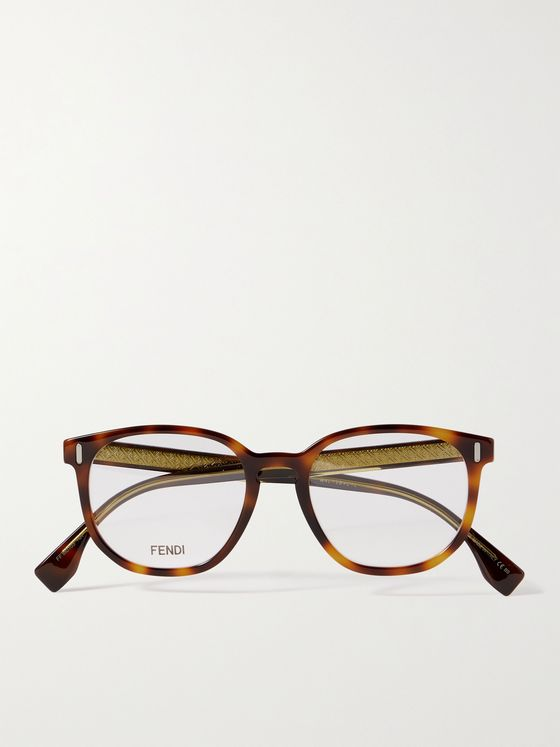 FENDI Round-Frame Tortoiseshell Acetate Optical Glasses