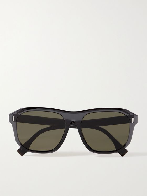 FENDI Caravan Aviator-Style Acetate Sunglasses