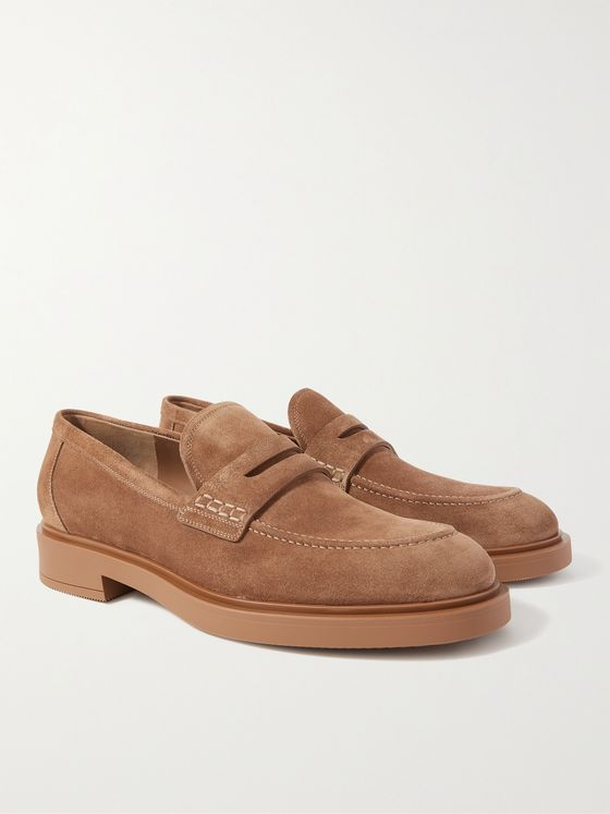 GIANVITO ROSSI Harris Suede Loafers