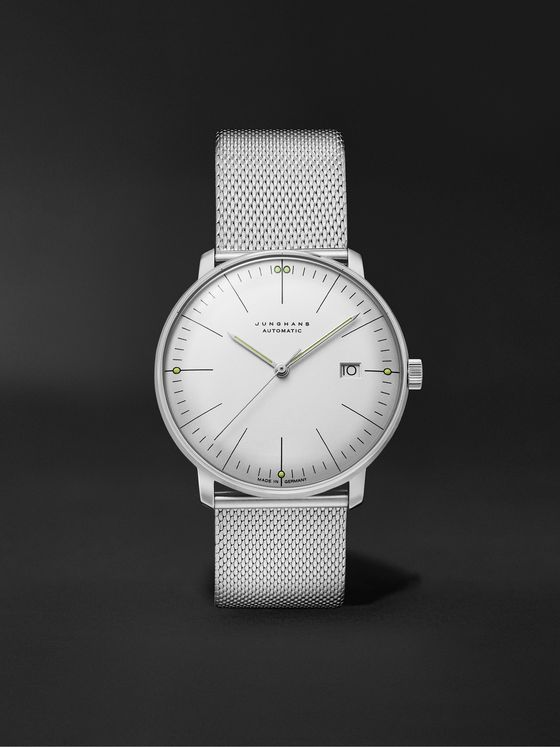 JUNGHANS Max Bill Automatic 38mm Stainless Steel Watch, Ref. No. 027/4002.46