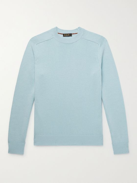 LORO PIANA Cotton and Silk-Blend Sweater