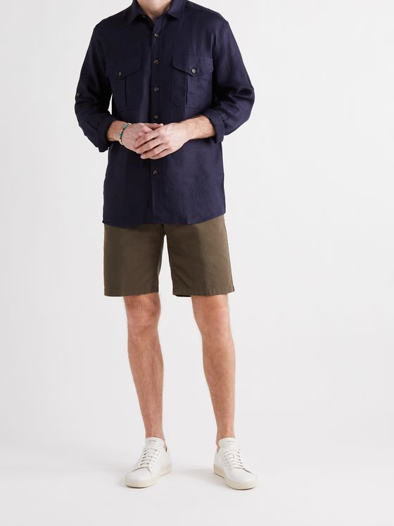 LORO PIANA Slim-Fit Stretch-Cotton Bermuda Shorts