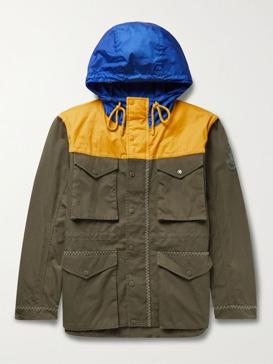 MONCLER GENIUS 1 Moncler JW Anderson Leyton Cotton-Canvas and Nylon Hooded Jacket