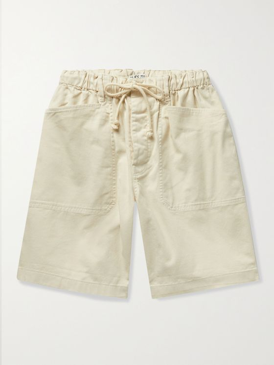 ALEX MILL BCI Cotton-Blend Twill Drawstring Shorts