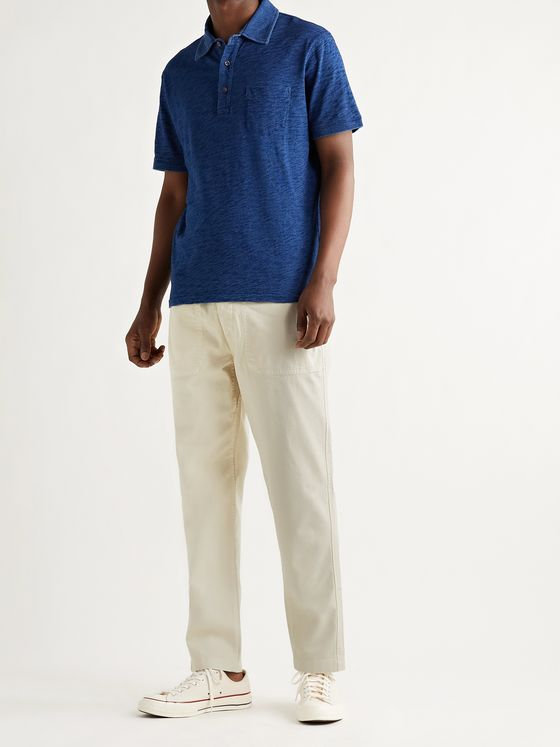 ALEX MILL BCI Cotton-Blend Twill Drawstring Trousers