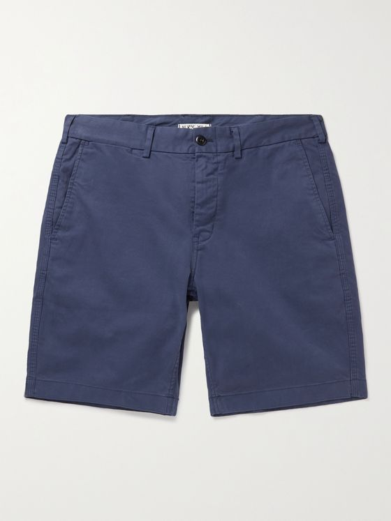 ALEX MILL Cotton-Blend Twill Shorts