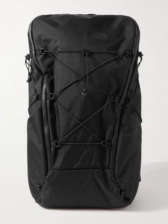 AND WANDER Heather Coated-Shell Backpack
