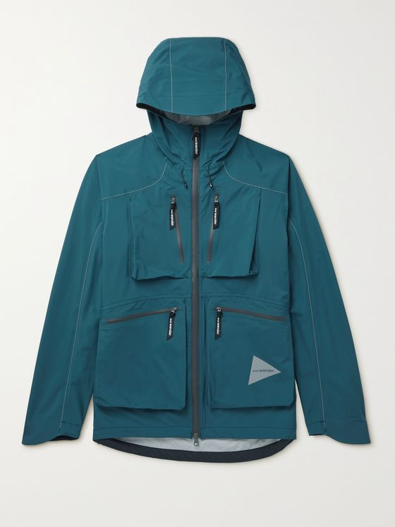 AND WANDER E-Vent Hooded Pertex Nylon Jacket