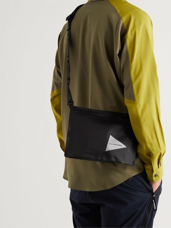 AND WANDER Logo-Print Nylon-Ripstop Messenger Bag