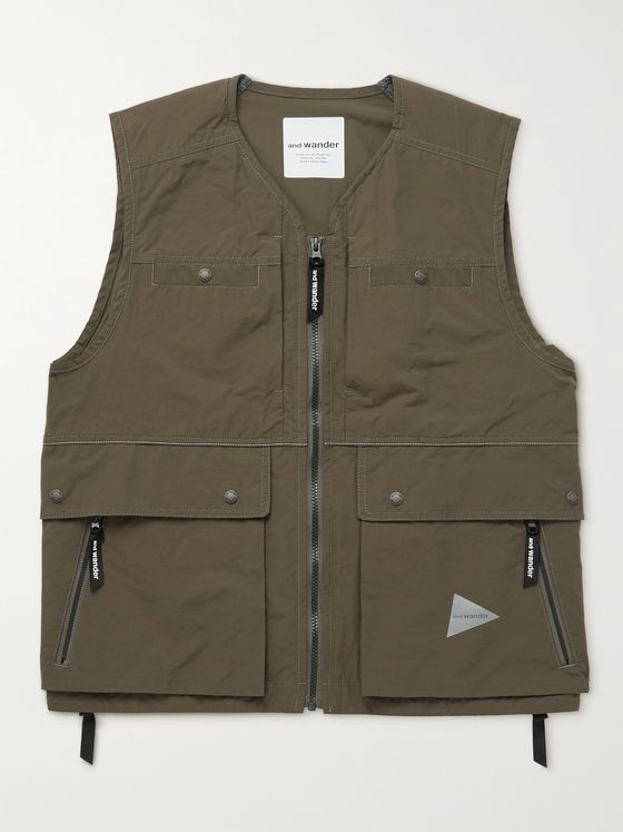 AND WANDER Pertex Nylon Gilet