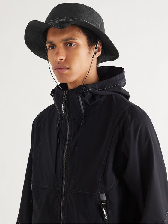 AND WANDER JQ Tape Nylon-Ripstop Bucket Hat