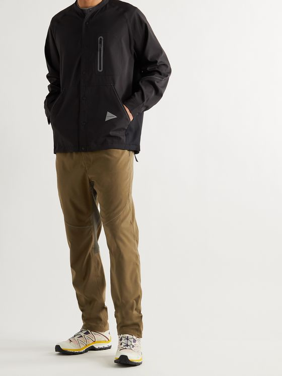 AND WANDER Tapered Belted Tech-Shell Trousers