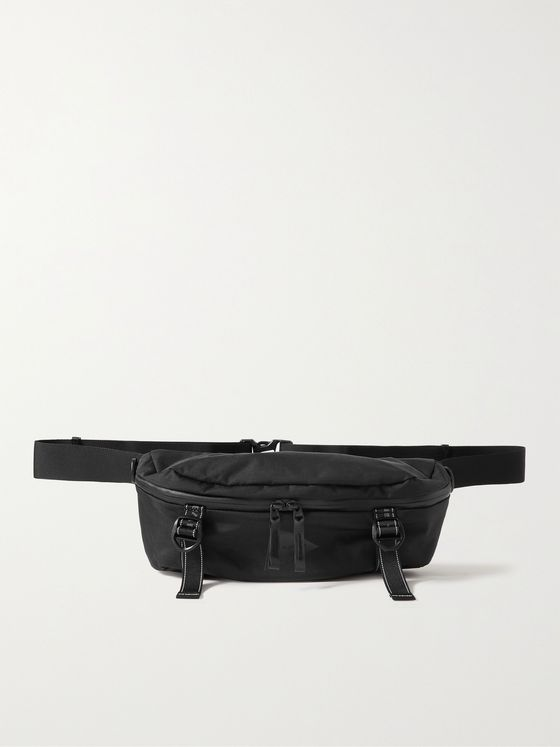 AND WANDER Heather Logo-Print Shell Belt Bag