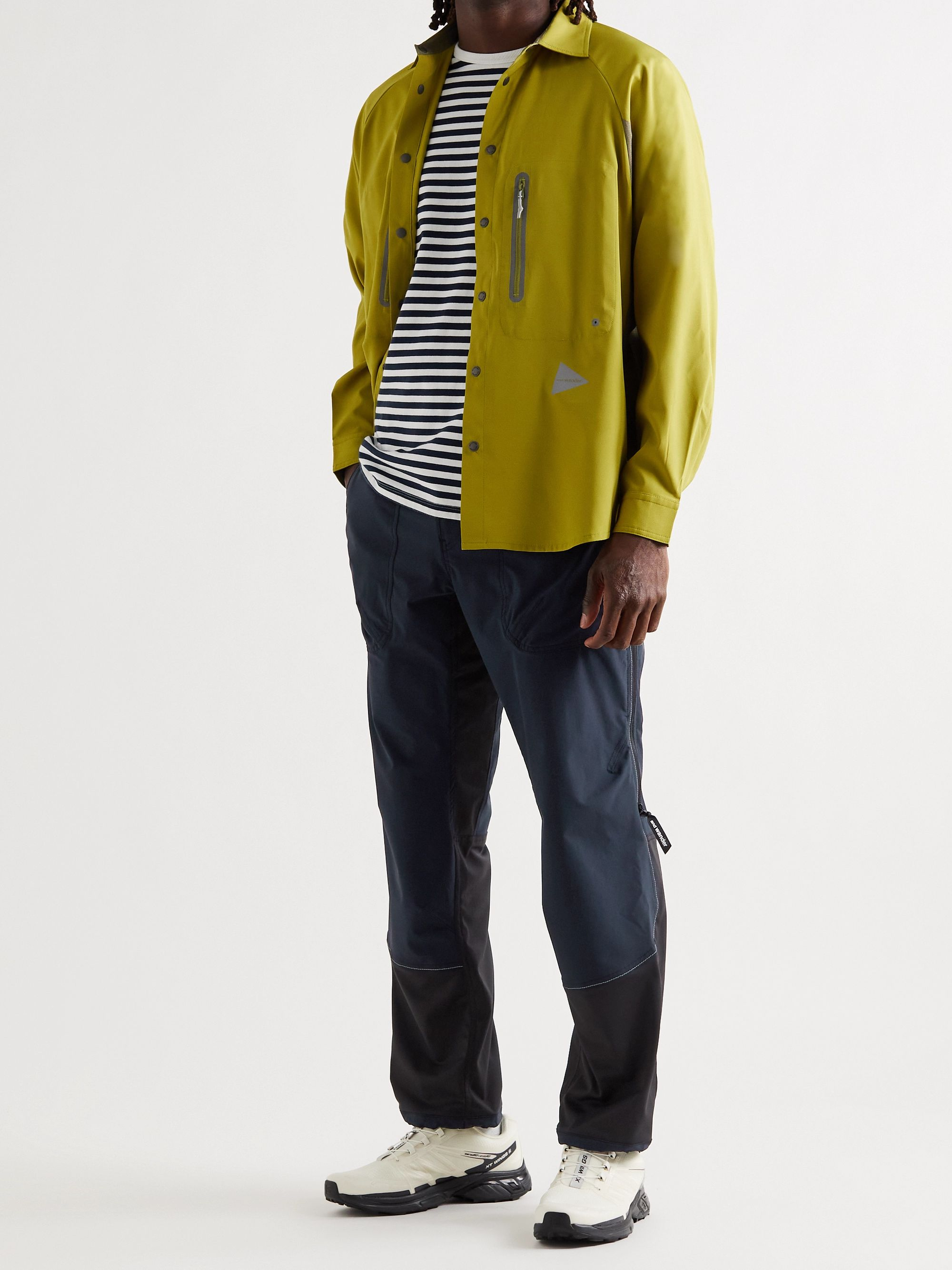 AND WANDER Colour-Block ZGRAV Shell Belted Trousers
