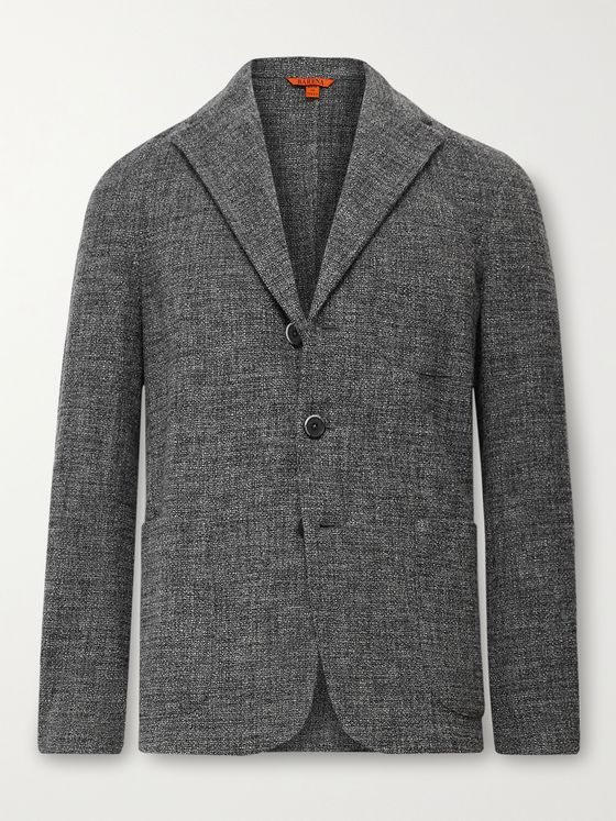 BARENA Unstructured Tweed Blazer