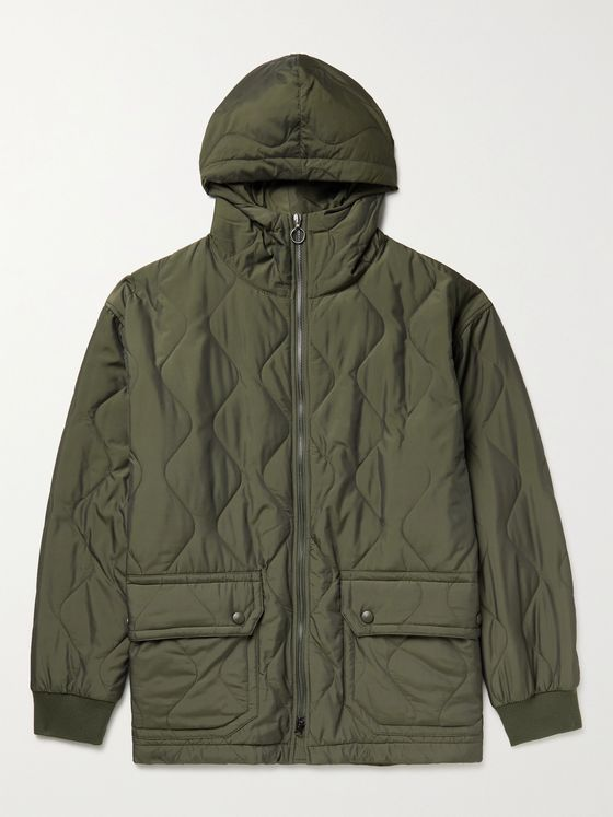BARENA Padded Quilted Nylon-Blend Hooded Parka