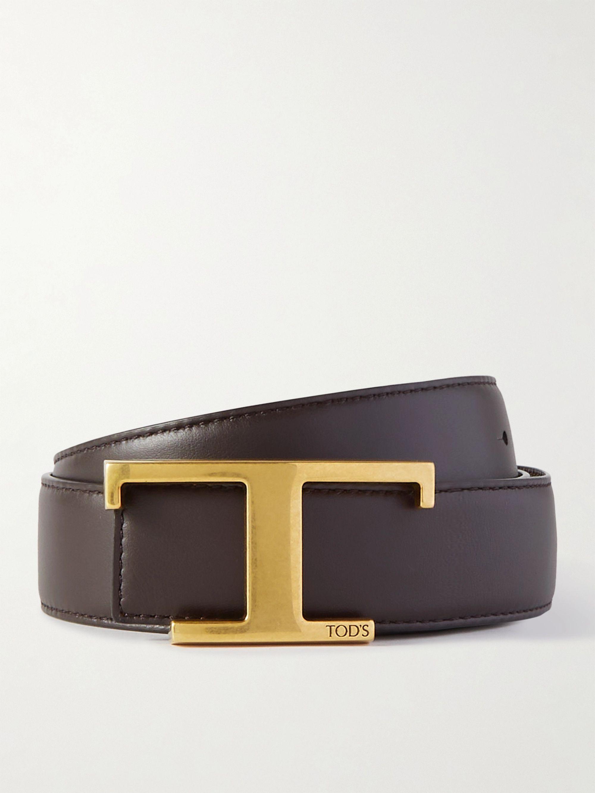 토즈 벨트 Tod's 3.5cm Leather Belt,Brown