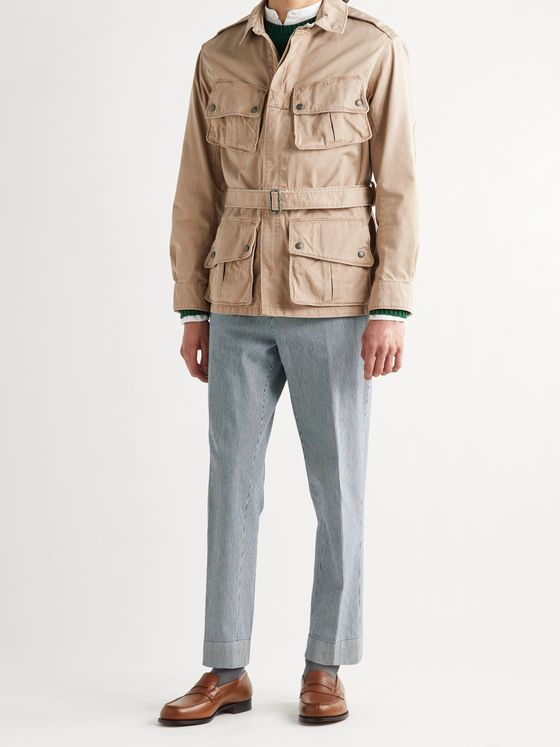 POLO RALPH LAUREN Belted Cotton-Twill Jacket