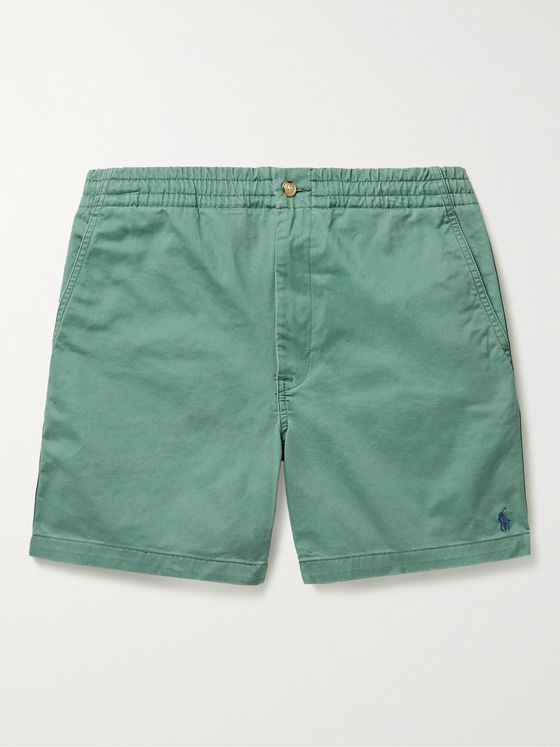 POLO RALPH LAUREN Logo-Embroidered Cotton-Blend Twill Shorts