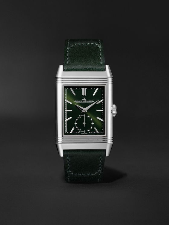 JAEGER-LECOULTRE Reverso Tribute Small Seconds 27.4mm Steel and Leather Watch, Ref. No. Q3978430