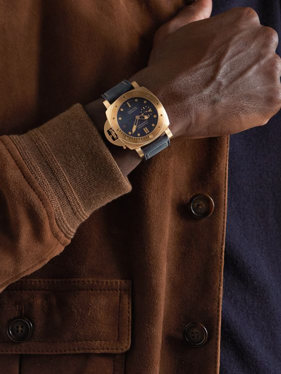 PANERAI Submersible Blu Abisso Automatic 42mm Bronze and Leather Watch, Ref. No. PAM01074