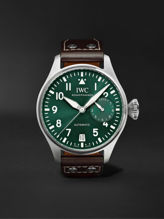 IWC SCHAFFHAUSEN Big Pilot's Automatic 46.2mm Stainless Steel and Leather Watch, Ref. No. IW501015