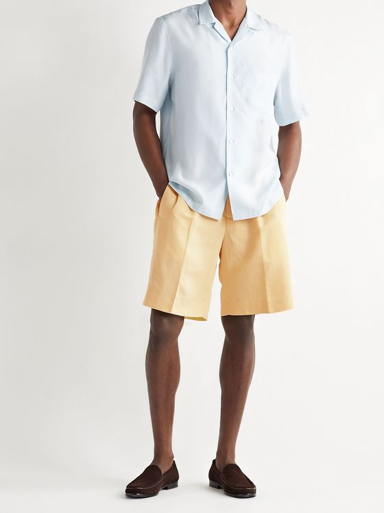 UMIT BENAN B+ Richard Pleated Woven Shorts