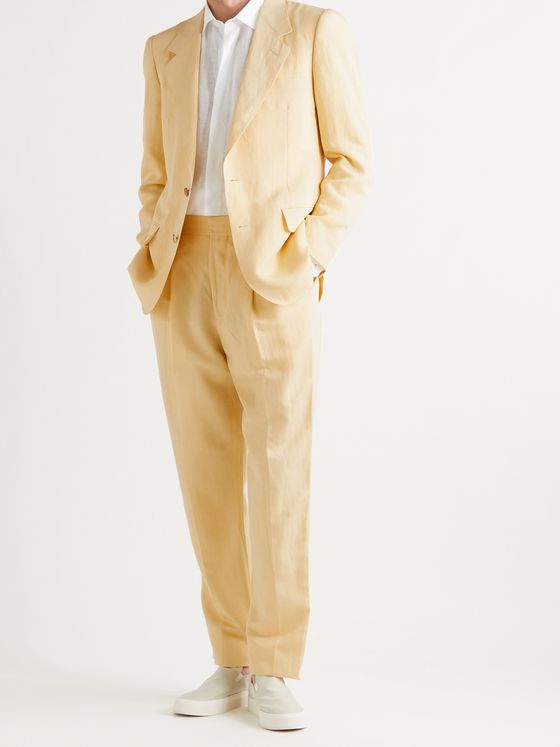 UMIT BENAN B+ Richard Pleated Woven Suit Trousers