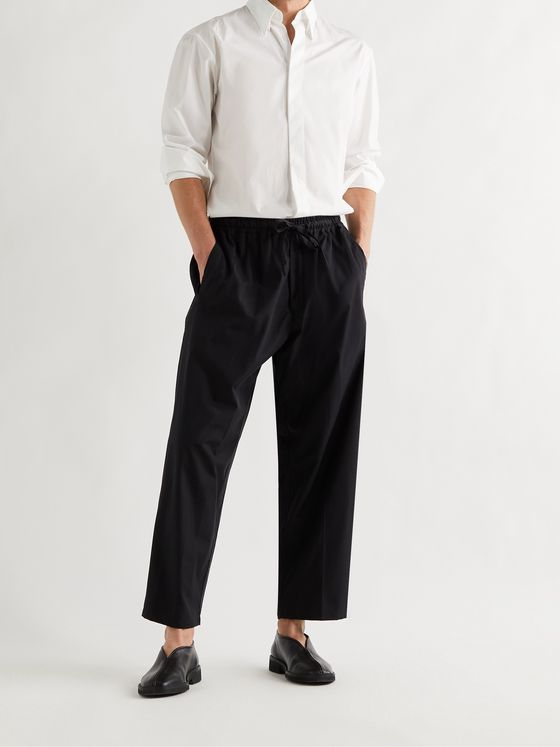 UMIT BENAN B+ Julian Cotton and Silk-Blend Drawstring Trousers