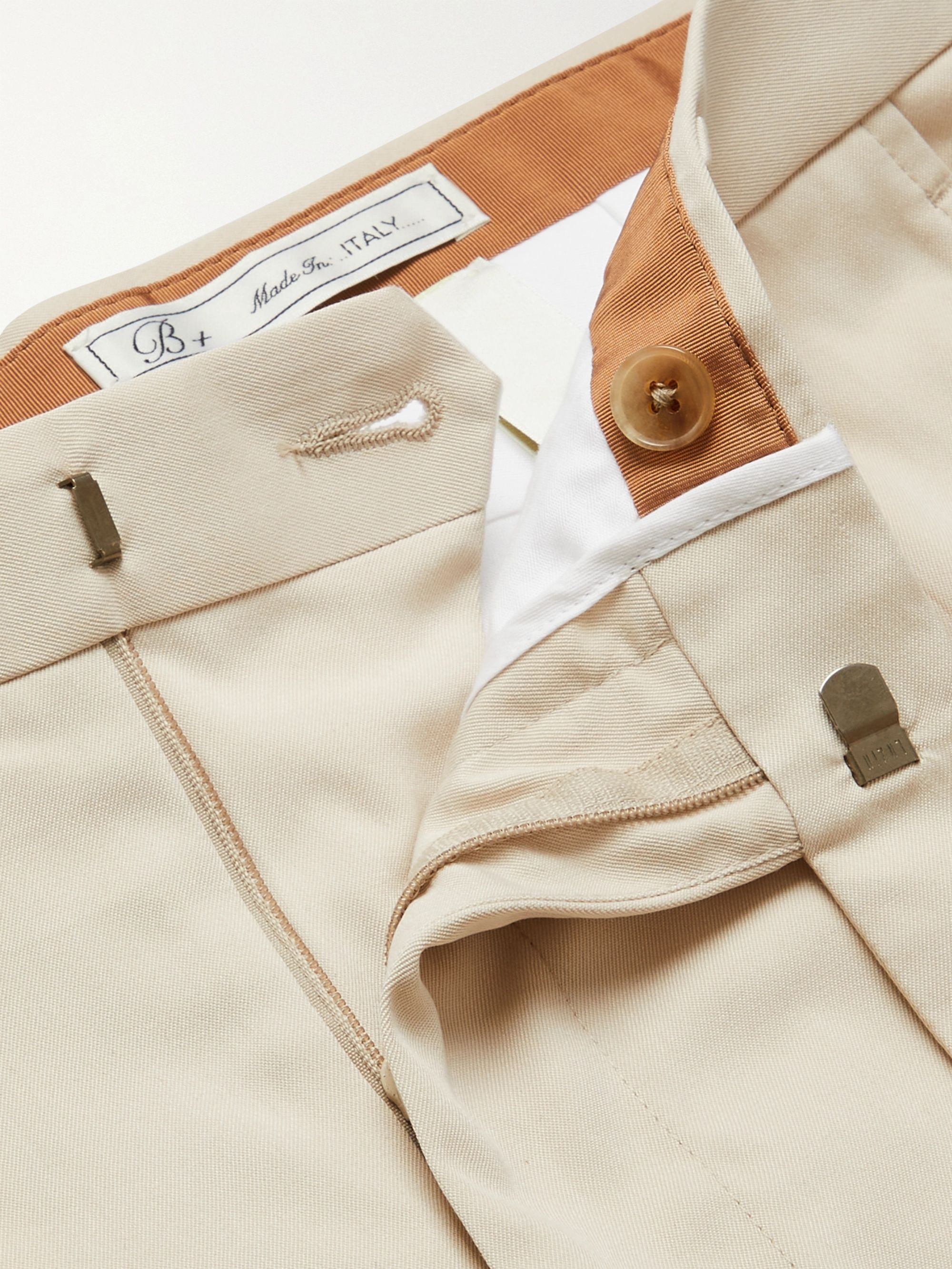 UMIT BENAN B+ Andy Weekend Tapered Silk-Twill Trousers