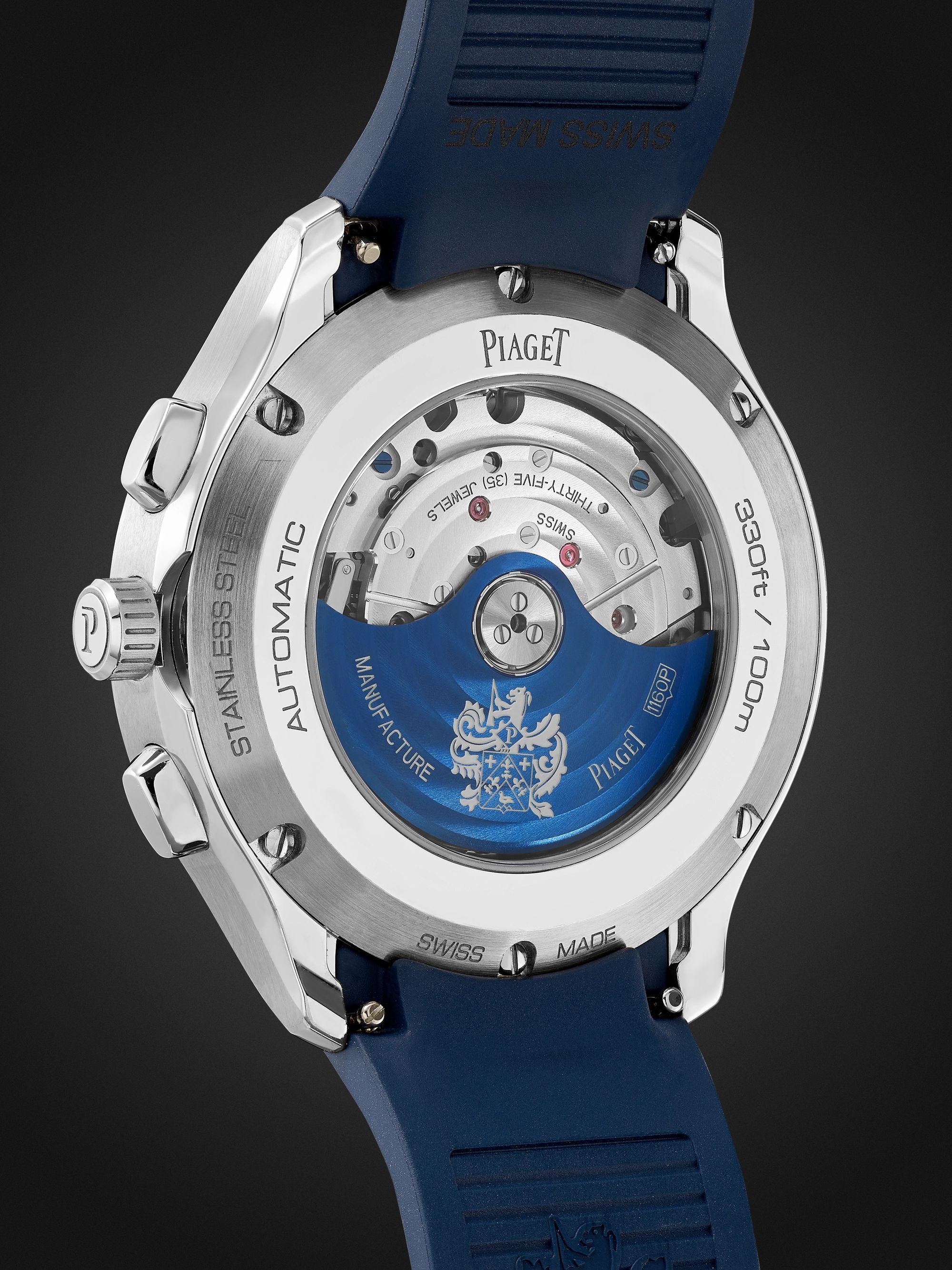 PIAGET Polo Automatic Chronograph 42mm Stainless Steel and Rubber Watch, Ref. No. G0A46013
