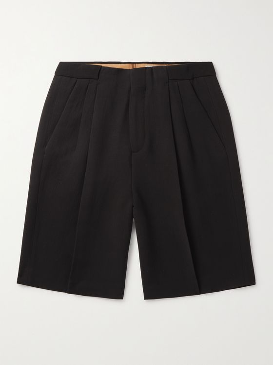 UMIT BENAN B+ Roberts Pleated Crepe Shorts