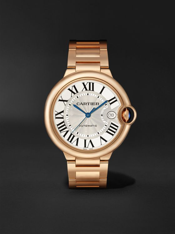 CARTIER Ballon Bleu de Cartier Automatic 40mm 18-Karat Pink Gold Watch, Ref. No. WGBB0039