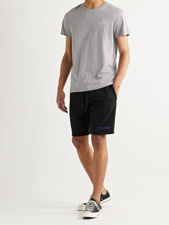 CALVIN KLEIN UNDERWEAR Slim-Fit Loopback Stretch-Cotton Jersey Drawstring Shorts