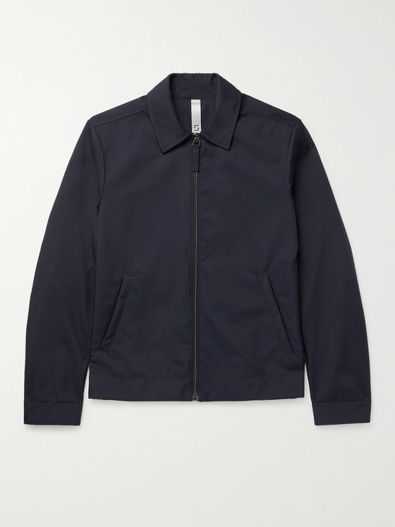 INCOTEX Slim-Fit Double-Canvas Harrington Jacket
