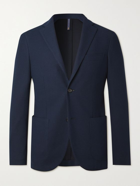 INCOTEX Montedoro Textured-Cotton Blazer