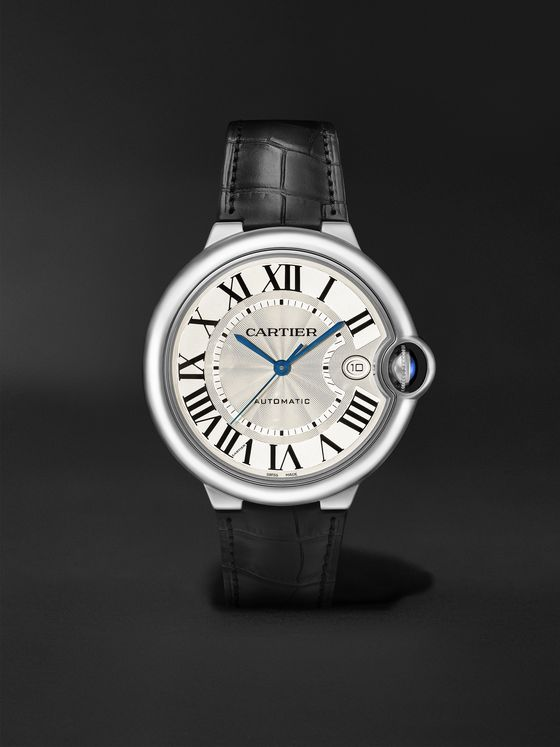 CARTIER Ballon Bleu de Cartier Automatic 40mm Stainless Steel and Alligator Watch, Ref. No. WSBB0039