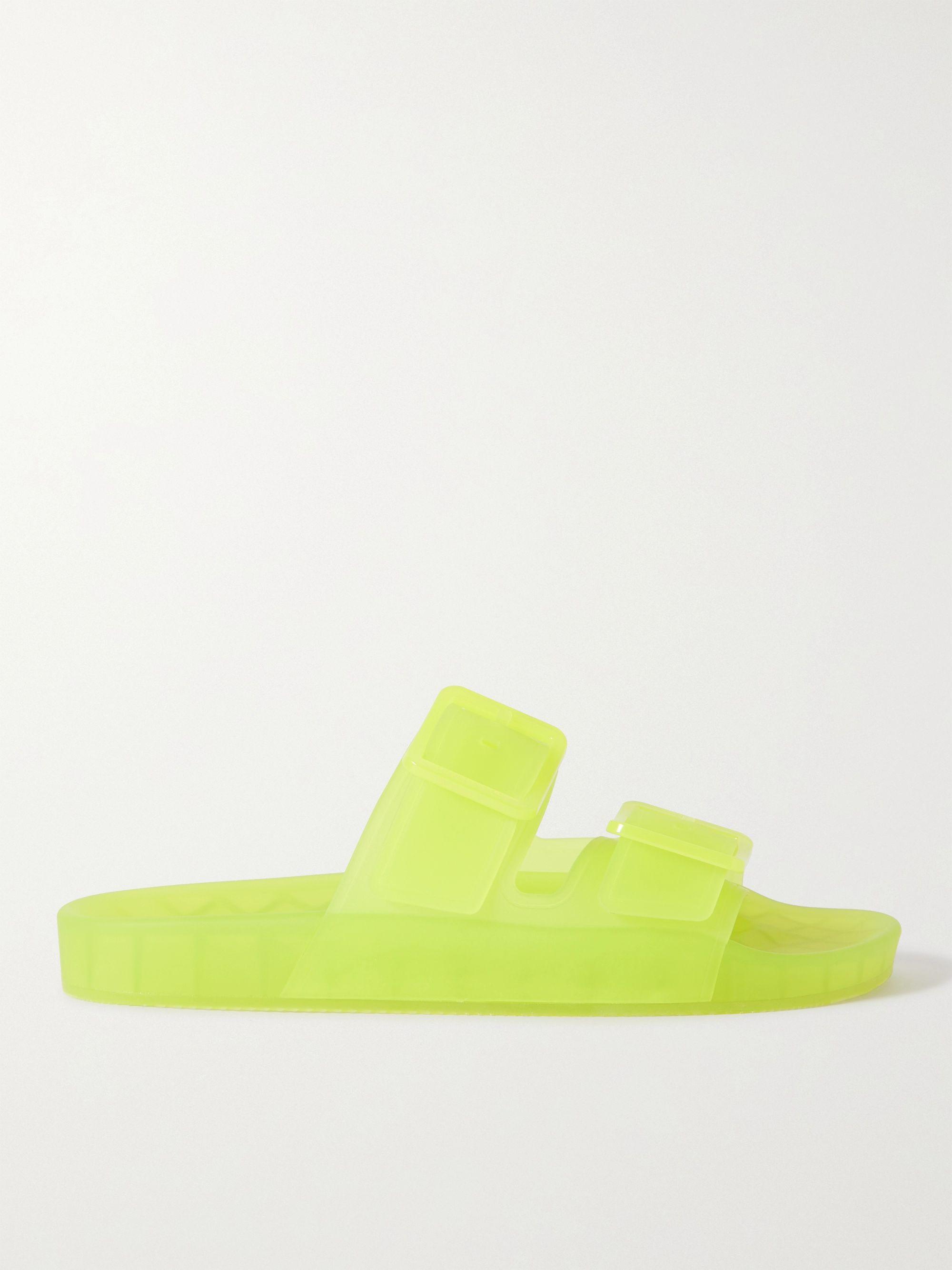 발렌시아가 Balenciaga Mallorca Rubber Sandals,Yellow