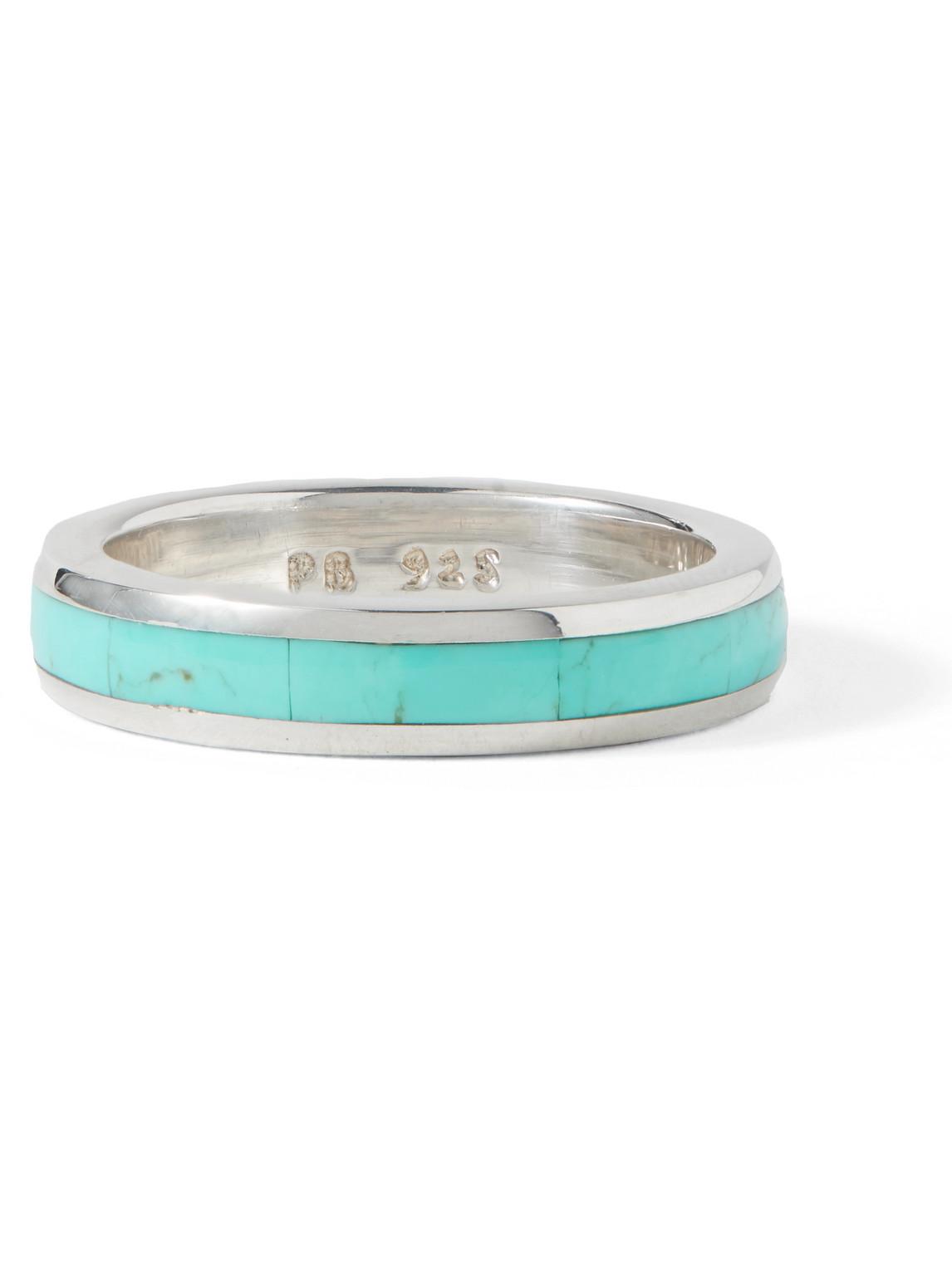 peyote bird - latitude sterling silver turquoise ring - men - silver - 10