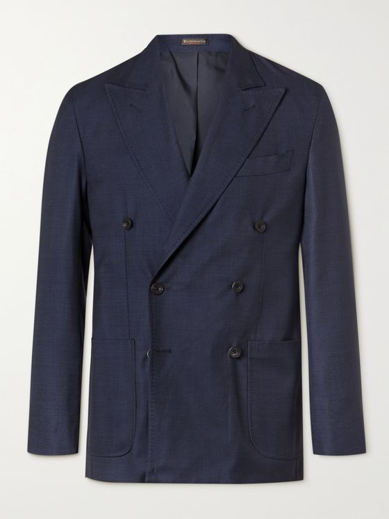 RUBINACCI Double-Breasted Virgin Wool Blazer