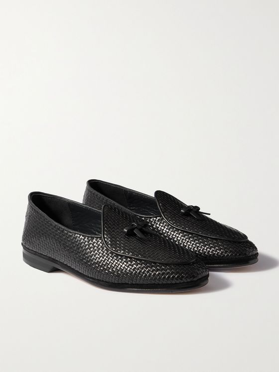 RUBINACCI Marphy Woven Leather Loafers
